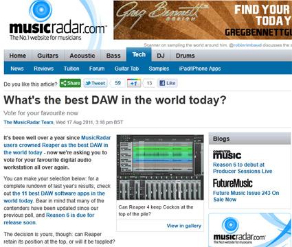 Best Daw For 2011 Poll