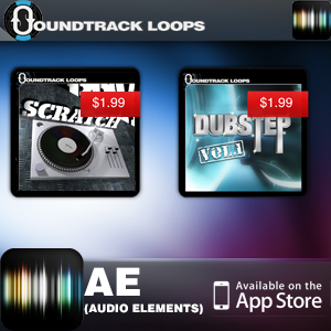 Audio Elements App for iOS - Featuring Soundtrackloops