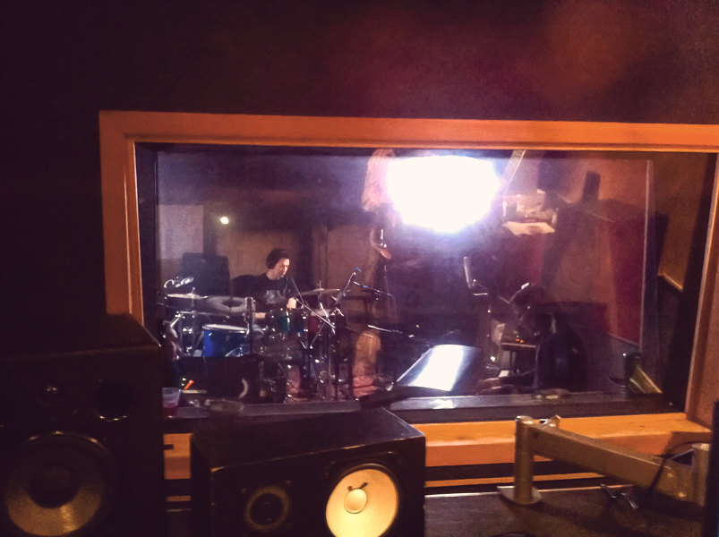 Thiago and Drummer Recording Session Brazilian Lounge