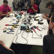 Synthrotech Soldering Class - Denver Synth Meet 2015