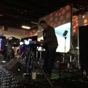 Mark Mosher Beginning his set at Denver Synth Meet 2015