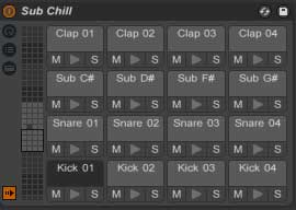 Sub Chill Drum Kits for Ableton Live and Ableton PUSH