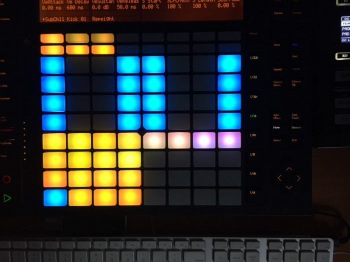 Sub Chill Drums Instrument for Ableton Push