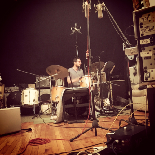 Drummer Hari Ganglberger in session - Butler Recording Studio
